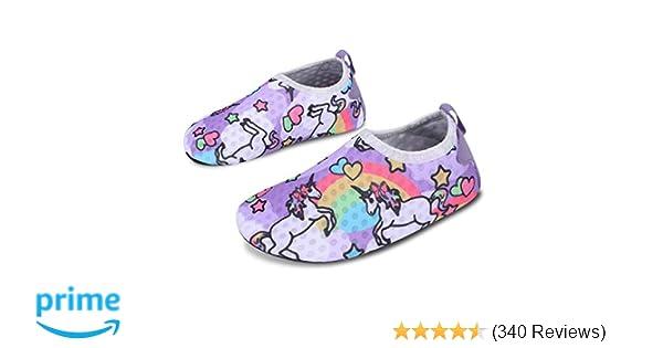 3dfa9cee894 Amazon.com   L-RUN Kids Swim Water Shoes Barefoot Aqua Socks Shoes for  Beach Pool Surfing Yoga   Water Shoes