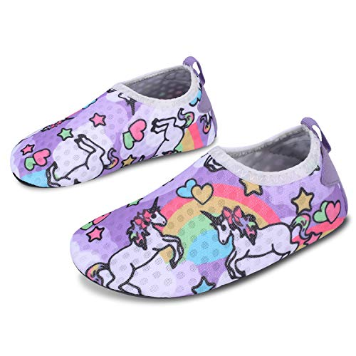 L-RUN Kids Water Sports Shoes Boys Girls Summer Swim Beach Shoes Horse 9.5-10=EU26-27 (Sport Shoes For Children)