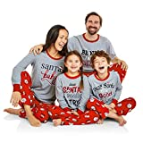Hattfart Christmas Family Matching Long Sleeve Santa Print Christmas Pajama Set for Family (Men, M)