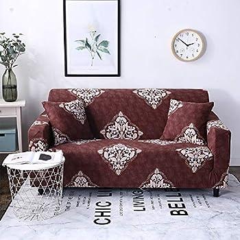 Amazon.com: HOTNIU Stretch Sofa Cover 1-Piece Printed Couch ...