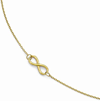 viStar Leslies 14K Yellow Gold Polished Anklet with 1in ext