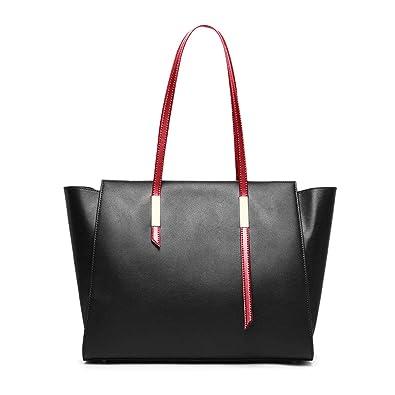 215b47f2428 Amazon.com: Genuine Leather Tote Bag, Usbagtech Women Shoulder Bag Top  Handle Satchel Handbags Large Capacity Daily Work Purse: Shoes