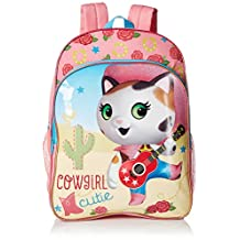 Disney Little Girls Sheriff Callie Cowgirl 16 Inch Backpack, Pink, One Size