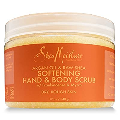 Shea Moisture Exfoliating Hand & Body Sugar Scrub with Ultra Hydrating Argan Oil & Organic Raw Shea Butter, Gently Exfoliates and Nourishes to Reveal Silky Smooth Skin, 12 Ounce