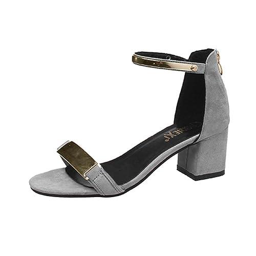 Ella - Aperte Sulla Caviglia donna da ragazza' , grigio (Grey), 40