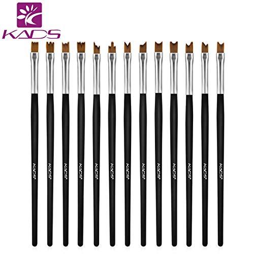 Best Quality - Nail brush set - 13pcs/set Five Type Pattern Design Nail Art Brush Pens Nail Brushes Set Manicure Tools Set Kit for Nail Art Decorations - by Olwen Shop by Olwen Shop
