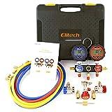 Elitech DMG-3 AC Manifold Gauge Set 2 Way Fits