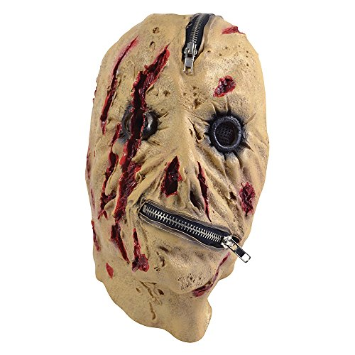 Bristol Novelty BM440 Zipper Mask, One -