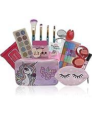 Kit Maquiagem Infantil Teen Kit Pinceis Necessaire Top Necessarie: Estampa Unicornio