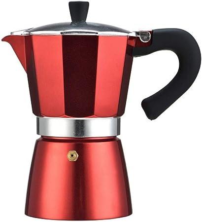 HIUGHJ 240ml Cafetera de Aluminio Geyser Maker Latte Espresso Percolator Hervidor Barista Cafetera Herramienta para Oficina en casa, Rojo: Amazon.es: Hogar