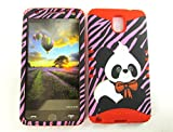 SAMSUNG GALAXY NOTE 3 CASE PANDA ON PINK RD-TE672 HEAVY DUTY HIGH IMPACT HYBRID COVER RED SILICONE SKIN
