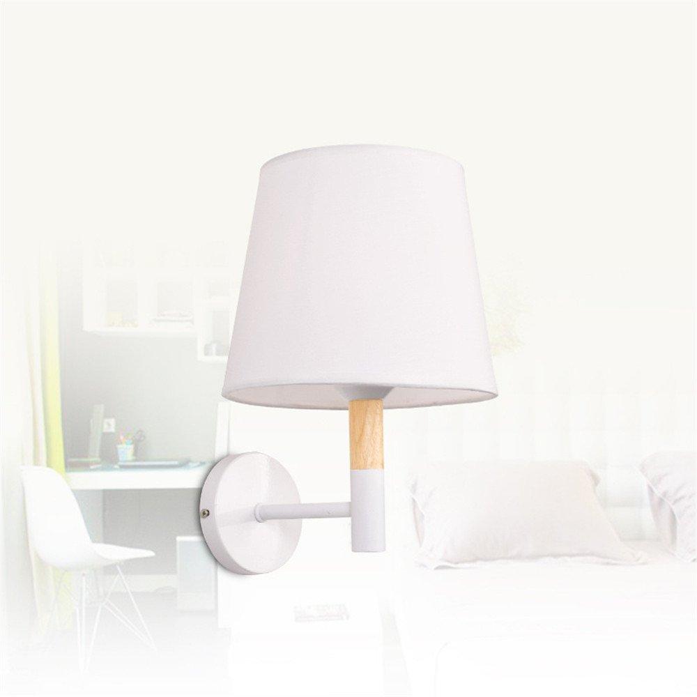 Amadoierly Nordic Moderne Wand-E27-Beleuchtung Einfache Wohnzimmer Tv-Wand Studie Schlafzimmer Dekoration Wandleuchte, Weiß