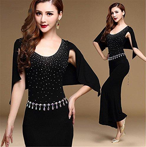 robe de formation en danse du ventre confortable / spectacles de danse du ventre jupe black