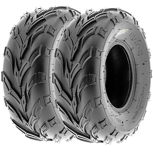 Pair of 2 SunF A004 ATV Go-Karts 16x8-7 AT off-road Tires, 6 PR, Tubeless by SunF