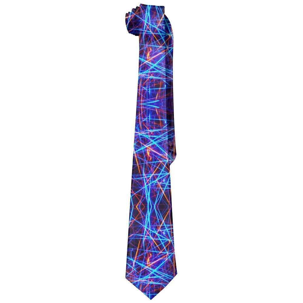 Jxrodekz Gargantilla de corbata de neón con rayas brillantes
