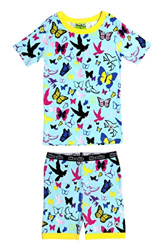 Moodie 100% Cotton Short Sleeve Bird & Butterfly Pajama Set (4yrs) -