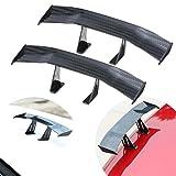 UBOOMS 2 PCS Mini Carbon Fiber Spoiler Wing Auto Car Tail Decoration