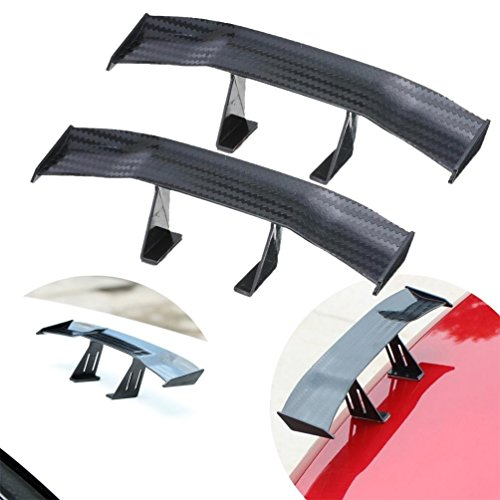 - UBOOMS 2 PCS Mini Carbon Fiber Spoiler Wing Auto Car Tail Decoration