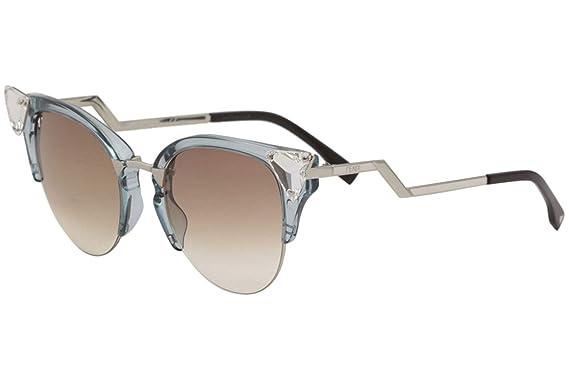 0abef23f6677a Amazon.com  Fendi Women s Iridia Crystal Corner Sunglasses ...
