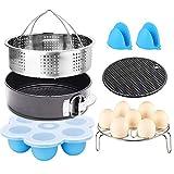 6 Pcs Instant Pot Accessories Set for 5,6,8 Qt Instant Pot Pressure Cooker with Steamer Basket Egg Steamer Rack Non-Stick Springform Pan Egg Bites Molds