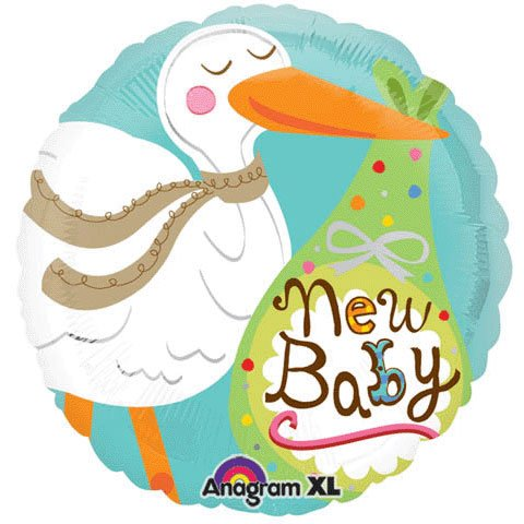 (Anagram New Baby Stork Bundle Dots Green 18