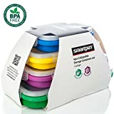 SMARTPAN Collapsible Silicone Food Storage Containers - Set of 4 Bento Boxes | Does Not Absorb Food Smell | BPA Free | Microwave, Freezer and Dishwasher Safe | Easy To Clean & Durable
