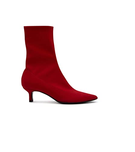 4c0fbbc6c9e4 Image Unavailable. Image not available for. Color  ALDO CASTAGNA Women s  I17elise4350rosso Red Polyamide Ankle Boots
