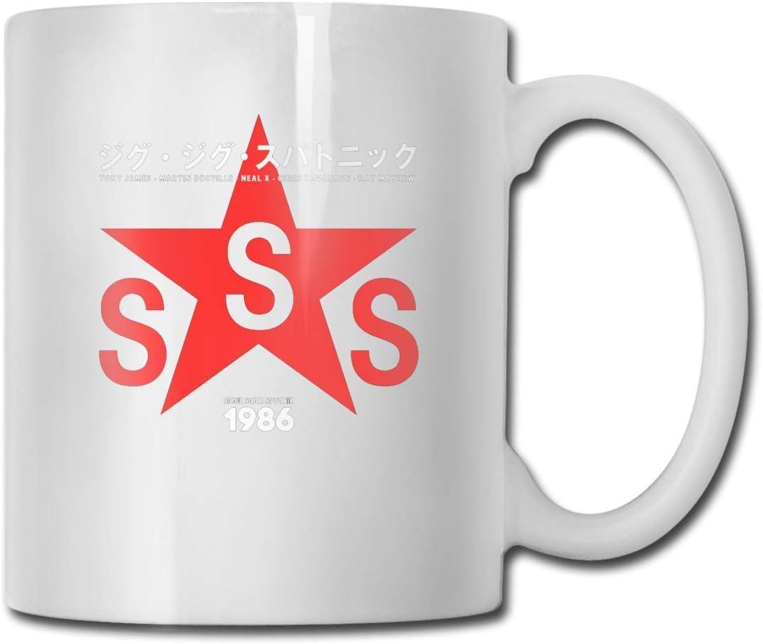 Tazas Sigue Sigue Sputnik 1986 Diseño de alta calidad Taza de café divertida Taza de regalo para fanáticos Esposa Esposa Blanca