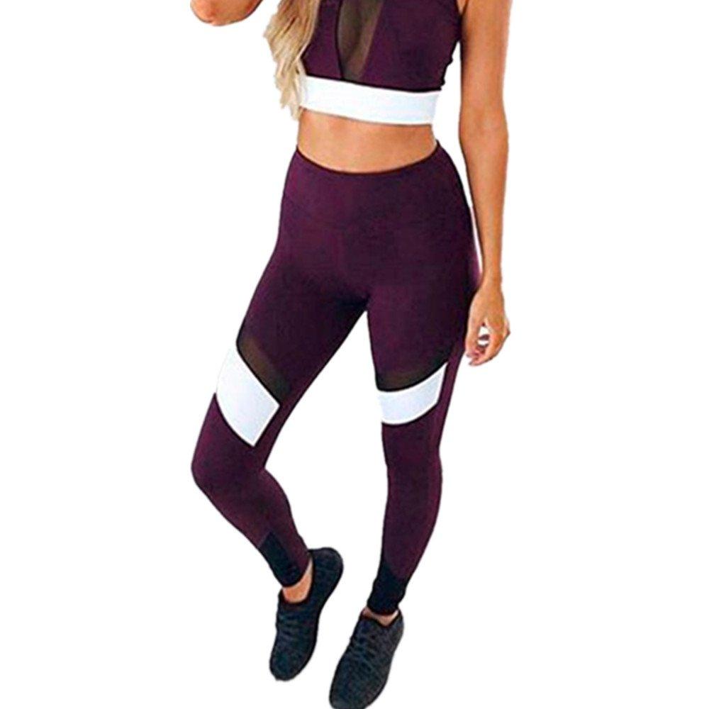 Homebaby Eleganti Yoga Leggings Sportivi Donna Pantaloni Tagliati - Mesh Leggings Sport Opaco Fitness Spandex Palestra Pantaloni Leggins Push Up- Pantaloni Tuta Donna