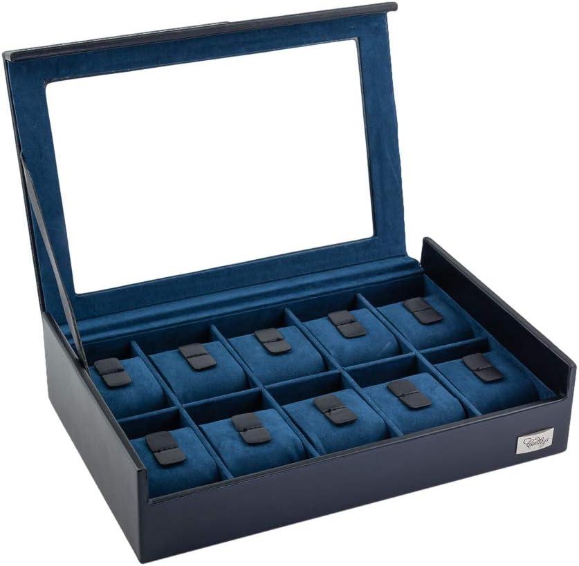CORDAYS - Estuche Relojero para 10 Relojes con Vitrina de Cristal Hecho a Mano. CDL-10005C…: Amazon.es: Hogar