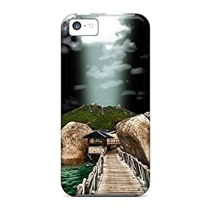 Faddish Phone Rocks In Water Case For Iphone 5c / Perfect Case Cover