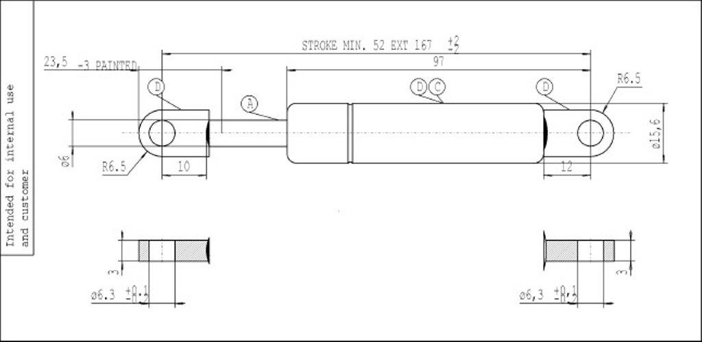 Stabilus 0681SW Gasfeder Industrie