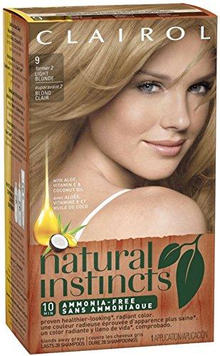 Clairol Natural Instincts, 9 / 2 Sahara Light Blonde, Sem...