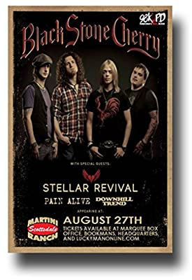 "Black Stone Cherry Poster - 11 x 17 Promo for a Concert on the ""Kentucky"" Album Tour -- AZ"