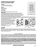 Intermatic EI205W 5/15/30/45/60 Minute Electronic In-Wall Countdown Auto-Off Timer, White