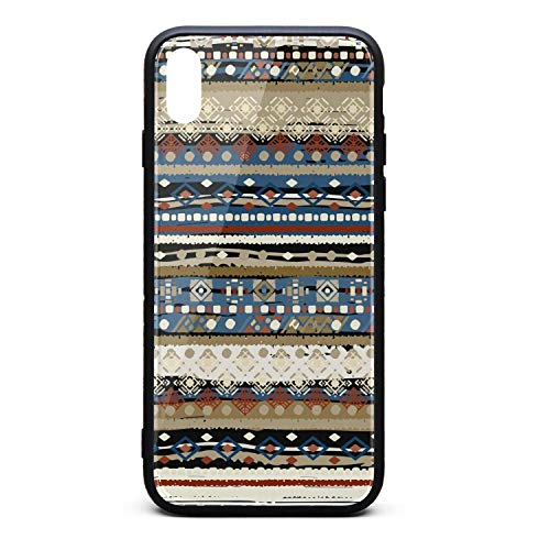 (Ethnic Boho Tribal Art Phone Case for iPhone Xs Max TPU Gel Full Protective Cute Anti-Scratch Fashionable Glossy Anti Slip Thin Shockproof Soft Case)