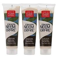 Paquete de 3 - Crema Dental Artesanal de Corteza de Neem/Pasta dental sin fluor/Crema dental sin fluor de bienestar NEEM ERFRE