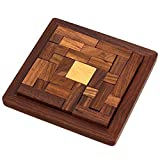 ShalinIndia Handmade Indian Wood Jigsaw Puzzle - Wooden Toys for Kids - Travel Games for Families - Unique Gifts for Children