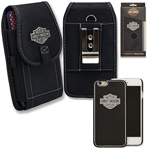 Harley Davidson iPhone 6s, iphone 6 Hard Shell Classic Logo Cover with Vertical Nylon Harley Davidson Riding Case.