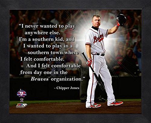 Chipper Jones Atlanta Braves framed Pro Quotes 16x20