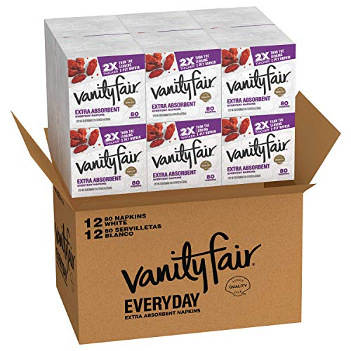 Vanity Fair Everyday Extra Absorbent Premium Paper Napkin, 960 Count, Dinner Napkin for Messy Meals
