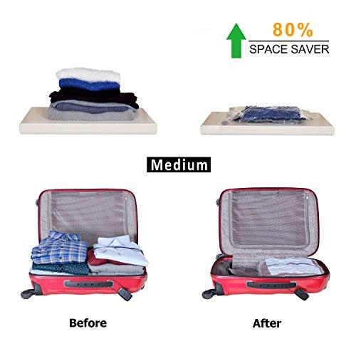 2b3b33d6d955 CALORSA Vacuum Storage Bags with Hand Pump 8-Pack (8 Medium) Home ...
