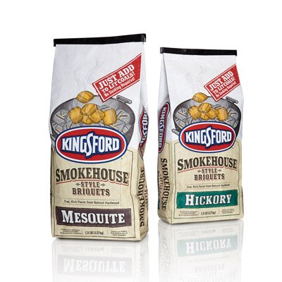 Kingsford Smokehouse Style Briquets Variety Pack - Bundle (2) - Most Popular Flavors - Hickory & Mesquite (Charcoal Briquettes)