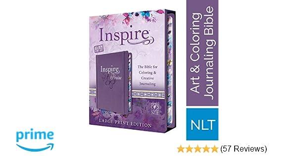 Tyndale Nlt Inspire Praise Bible Large Print Hardcover