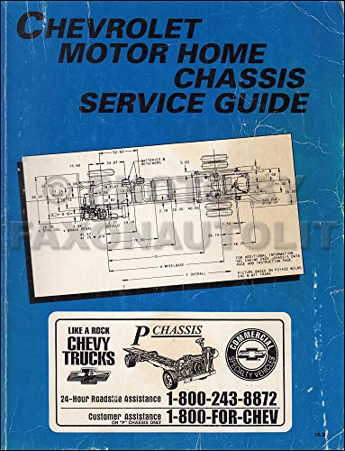 1995 Chevrolet Motorhome Repair Shop Manual Original