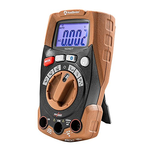 Southwire Tools & Equipment 16040T Compact Auto-Ranging TrueRMS Digital Multimeter with MApp Mobile App