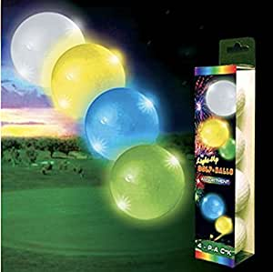 Night Flyer Lighted Golf Balls - 4 Ball Variety Pack