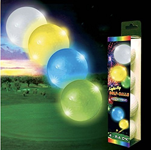 Night Flyer Lighted Golf Balls - 4 Ball Variety Pack -