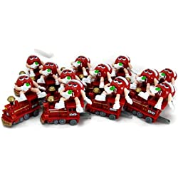 Christmas Red M&Ms Holiday Train Engine Party Favor Stocking Stuffer - Pack of 12