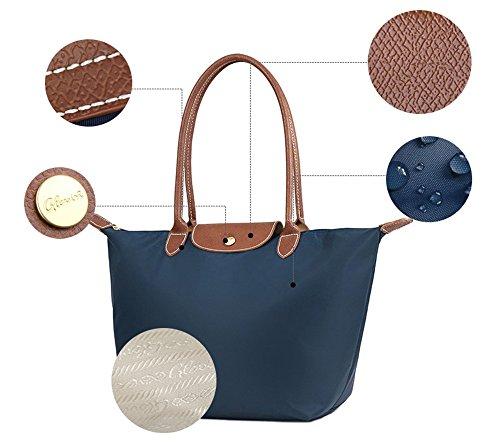 Bolsos de nylon, bolso de la momia del paño de Oxford, bolsos de compras del recorrido del hombro del hombro, bolso de las bolas de masa hervida ( Color : Vino rojo ) Azul oscuro